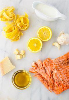 Light and Creamy Lemon Pasta with Salmon