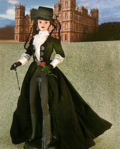 Lady Mary ready to ride to the Hounds at Downton http://www.ebay.com/itm/DOWNTON-ABBEY-Lady-Mary-Crawley-OOAK-DOLL-Riding-to-the-Hounds-with-Kemal-Pamuk-/191167618764