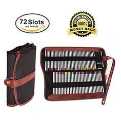 Canvas Pencil Wrap,72 Pencil Holder Colored Pencils Case ...