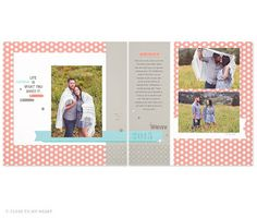 #Zoe #Scrapbook Layout #CTMH #Paper Available today on my website!