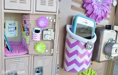 Decorated Locker with LockerLookz magnetic accessories
