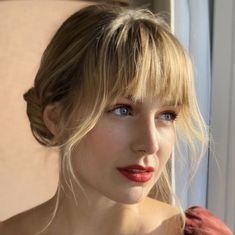 Melissa Benoist, Hair Inspo, Hair Inspiration, Hairstyles With Bangs, Cool Hairstyles, Jessy Nelson, Melissa Supergirl, Blonde Bangs, Oval Faces