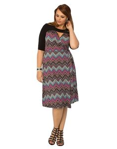 Kiyonna Women's Plus Size Winsome Wrap Dress -- For more information, visit now : Women clothing