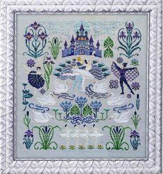 Embroidery Needles, Embroidery Kits, Cross Stitch Embroidery, Cross Stitch Patterns, Embroidery Designs, Swan Lake, Photo Craft, Linen Fabric, Needlepoint