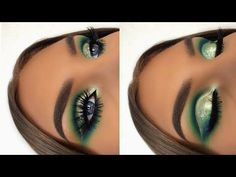 blue cut crease + Wedding Makeup - cut crease step by step Cut Crease Eyeshadow, Cut Crease Hooded Eyes, Cut Crease Makeup, Blue Eyeshadow, Eyeshadow Looks, Eyeshadow Makeup, Eyeliner, Prom Makeup Tutorial, Makeup Tutorials Youtube