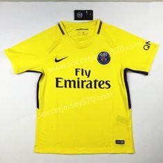 2017-18 Paris SG Away Yellow Thailand Soccer Jersey AAA Club Shirts 4c92d00fe97e5