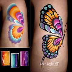 Amazing one stroke butterfly by Livi Lollipop