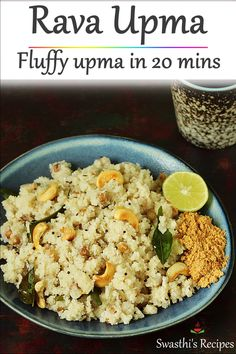 Rava upma is an easy south India breakfast made with semolina, spices and herbs. This easy recipe will help you make best & fluffy recipes videos indian Upma Recipe, How to make rava upma South Indian Breakfast Recipes, Indian Dessert Recipes, South Indian Vegetarian Recipes, Indian Recipes, Veg Recipes, Cooking Recipes, Healthy Recipes, Jain Recipes, Gourmet
