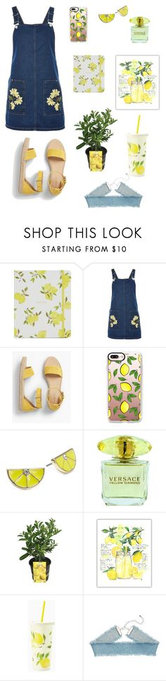 """""""country lemons"""" by jojo2122 ❤ liked on Polyvore featuring Topshop, Talbots, Casetify, ABS by Allen Schwartz, Versace, Eureka, Kate Spade and country"""