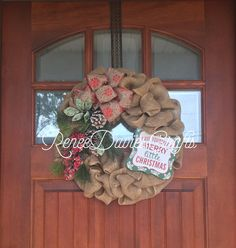 Christmas wreath/ burlap wreath/ Christmas by ReneeDaviesCrafts
