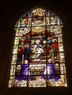Pentecost Window, Seville Cathedral, Andalucía, Spain. http://www.costatropicalevents.com/en/costa-tropical-events/andalusia/cities/seville.html