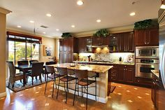dream kitchen if you add a wood fire stove