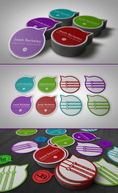 JB Mini-Business Card (The Pocket Card) by Joash Berkeley Graphic Design (via Creattica)