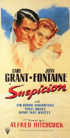 My fave...  Suspicion (1941) | Directed by: Alfred Hitchcock | #Hitchcock #HitchcockMovie