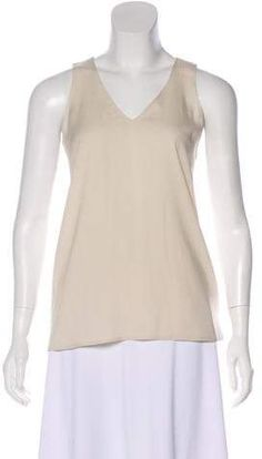 Nwot Babette M Cream Top Blouse 3 4 Sleeves Scoop Neck Stretch Mesh
