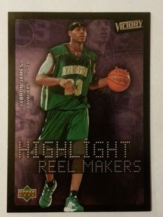 2003 UD VICTORY HIGHLIGHT REEL MAKERS LeBRON JAMES # 222 MINT FROM PACK