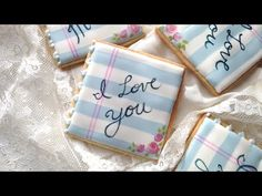 How To Decorate Love Note Cookies For Valentine's Day! - YouTube