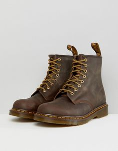 943e4a45732204 Dr Martens 1460 8 Eye Boots in Brown - Brown Brown Dr Martens