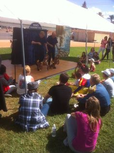 Puppet show at the Walk for LifeHouse and Family Festival