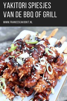 yakitori spiesjes uit reishonger francesca kookt - The world's most private search engine Cobb Bbq, Charcoal Bbq Grill, Custom Bbq Pits, Healthy Snacks, Healthy Recipes, Rainbow Food, Tasty Kitchen, Food Goals, Barbecue Recipes
