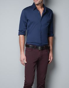 STRETCH SHIRT - Shirts - Man - ZARA $59.90
