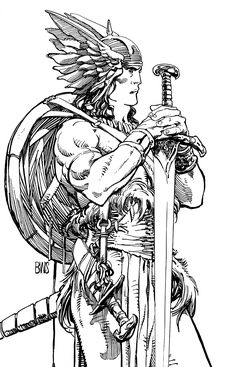 SPACESHIP ROCKET : Conan by Barry Windsor-Smith