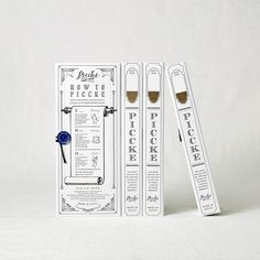 Piccke on Packaging of the World - Creative Package Design Gallery Tag Design, Book Design, Cover Design, Design Art, Tea Packaging, Brand Packaging, Design Packaging, Collateral Design, Branding Design