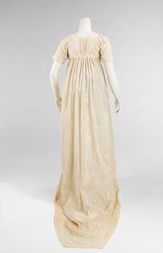 Evening dress, 1809–10