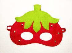 8 Strawberry felt masks Red Green for girl kids woman birthday party favor photo props soft Dress up Hanging Picture Frames, Hanging Pictures, Strawberry Pictures, Felt Mask, Kids Room Art, Birthday Woman, Birthday Party Favors, Mask For Kids, Felt Crafts