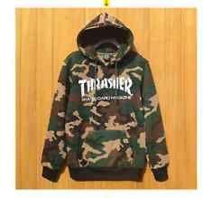 Details about  Men's hoodie hedging skateboard Hip-Hop camouflage Thrasher Swea