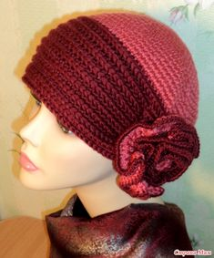 This Pin was discovered by Nad Crochet Adult Hat, Crochet Summer Hats, Crochet Beanie Pattern, Knit Crochet, Crochet Hats, Hand Knitting, Knitting Patterns, Crochet Patterns, Unique Crochet