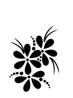 Stencil Patterns, Stencil Designs, Paint Designs, Stencils, Border Design, Silhouette Design, Fabric Painting, Easy Drawings, Rock Art