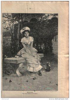 """Erwartung  - , Druck, ausgeschnitten  aus """"die Gartenlaube"""", 1897"""