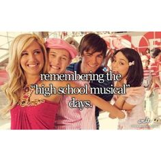 I LOVE High School Musical! I have all three movies!!! And one my BFF's said she had never seen any of them, so I was like next time you come to my house we watching them!!
