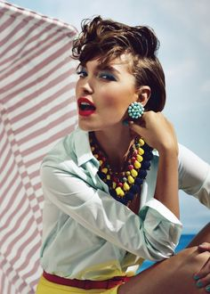 Arizona Muse by Patrick Demarchelier for Vogue UK, February 2012