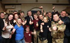 President Poroshenko in Pizza Veterano in Dnipro city