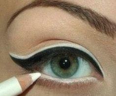 Cómo delinear los ojos paso a paso ~ Belleza y Peinados