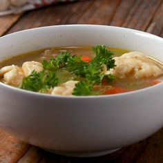What Will Happen if You Eat this . Bookmark this chicken and dumpling soup for later just in case your friends are feeling under the weather Dumplings For Soup, Dumpling Recipe, Chicken And Dumplings, Soup Recipes, Great Recipes, Chicken Recipes, Cooking Recipes, Favorite Recipes, Baked Chicken Wings