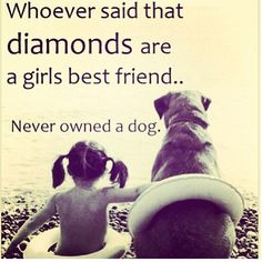 So very true!! Dogs are a girls best friend!❤️