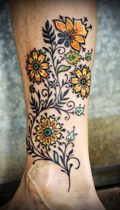 flower tattoos.