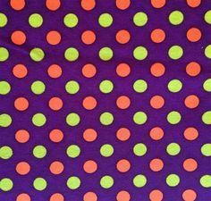 FLORAL PolyCotton fabric Tiny Dot Daisy Turq Purple Green Fuschia Orange Lime