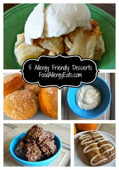 5 Allergy Friendly Desserts from @Abu mnsar Saad Allergy Eats #vegan