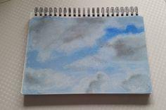 Cloud study in soft pastel  #art #pastel #pastels #clouds #sky #sky #painting #drawing #photooftheday #instaart #sketchbook #sketch #softpastel #rembrandtpastels #artists