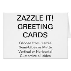 "Custom Personalized 7"" x 5"" Photo Greeting Card - create your own gifts personalize cyo custom"