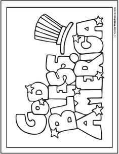 Fourth Of July Coloring Pages ✨ Patriotic Themes God Bless America! School Coloring Pages, Coloring Pages To Print, Coloring Book Pages, Free Coloring, Coloring Pages For Kids, Kids Coloring, Fairy Coloring, Fourth Of July Crafts For Kids, Sunday School Crafts