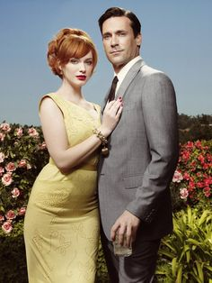 mad men, these are my two favorite from this show, christina hendricks is soo classically beautiful and never ever dressed like a skank! Betty Draper, Don Draper, Mad Men Mode, Joan Holloway, Mad Men Fashion, Fashion Ideas, Jon Hamm, Joan Harris, Vintage Girls