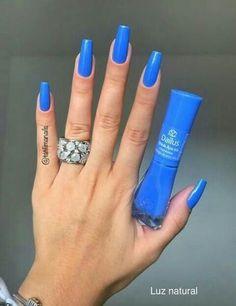 Here are the 10 most popular nail polish colors at OPI - My Nails Blue Acrylic Nails, Blue Nails, Acrylic Nail Designs, My Nails, Stylish Nails, Trendy Nails, Nail Paint Shades, French Gel, Dream Nails