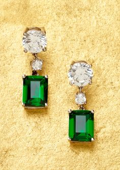 Crislu Emerald Earrings