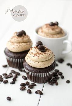 Mocha Cupcakes -- so classy!