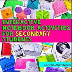 Interactive Notebook Activities for Secondary Students